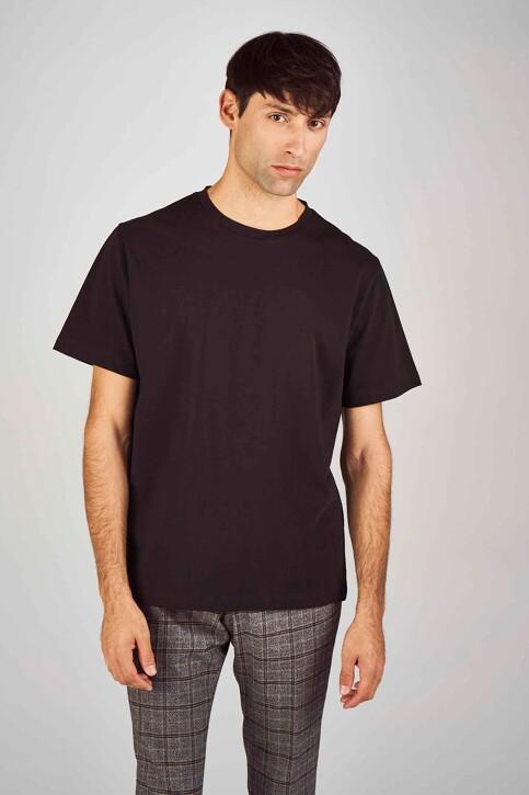 Le Fabuleux Marcel de Bruxelles T-shirts (korte mouwen) zwart MDB194MT 013_BLACK img1