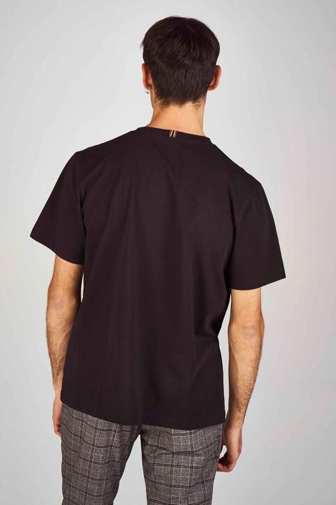 Le Fabuleux Marcel de Bruxelles T-shirts (korte mouwen) zwart MDB194MT 013_BLACK img3