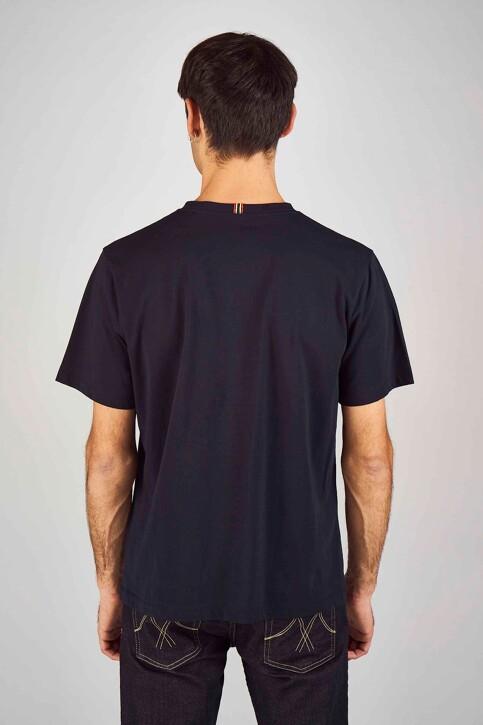 Le Fabuleux Marcel de Bruxelles T-shirts (korte mouwen) blauw MDB194MT 015_NAVY img3