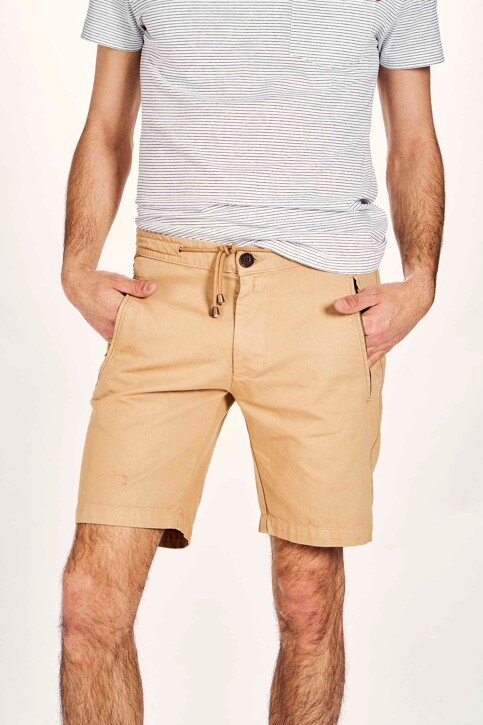 Le Fabuleux Marcel de Bruxelles Shorts beige MDB201MT 027_SAHARRA img1