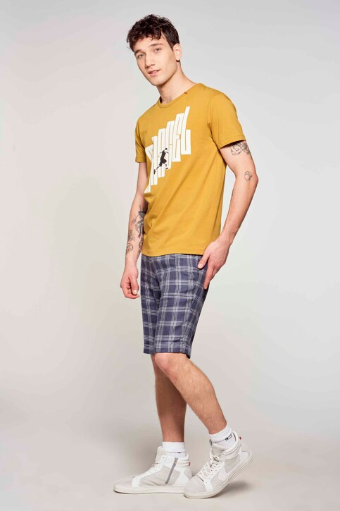 Le Fabuleux Marcel de Bruxelles T-shirts (korte mouwen) bruin MDB211MT 002_DRIED TOBACCO img1