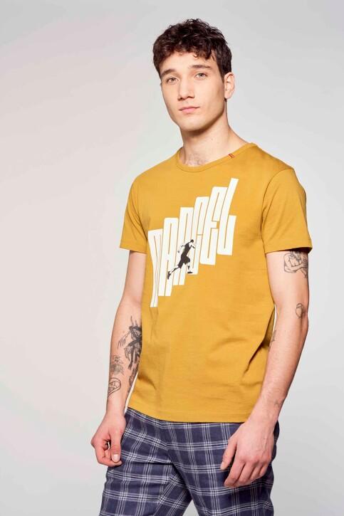 Le Fabuleux Marcel de Bruxelles T-shirts (korte mouwen) bruin MDB211MT 002_DRIED TOBACCO img2