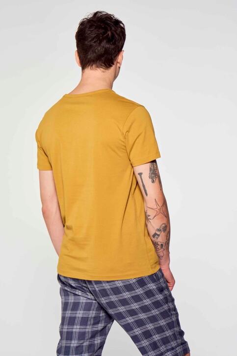 Le Fabuleux Marcel de Bruxelles T-shirts (korte mouwen) bruin MDB211MT 002_DRIED TOBACCO img3
