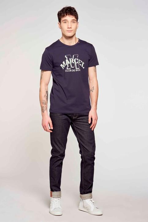 Le Fabuleux Marcel de Bruxelles T-shirts (korte mouwen) blauw MDB211MT 003_BLUE img1