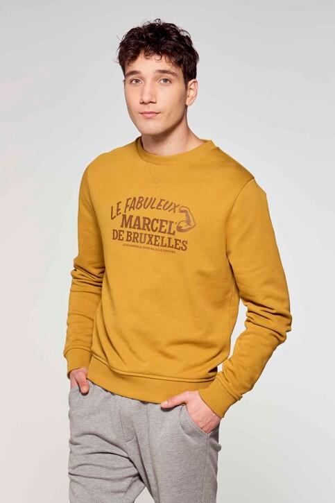 Le Fabuleux Marcel de Bruxelles Sweaters met ronde hals bruin MDB211MT 008_DRIED TOBACCO img2