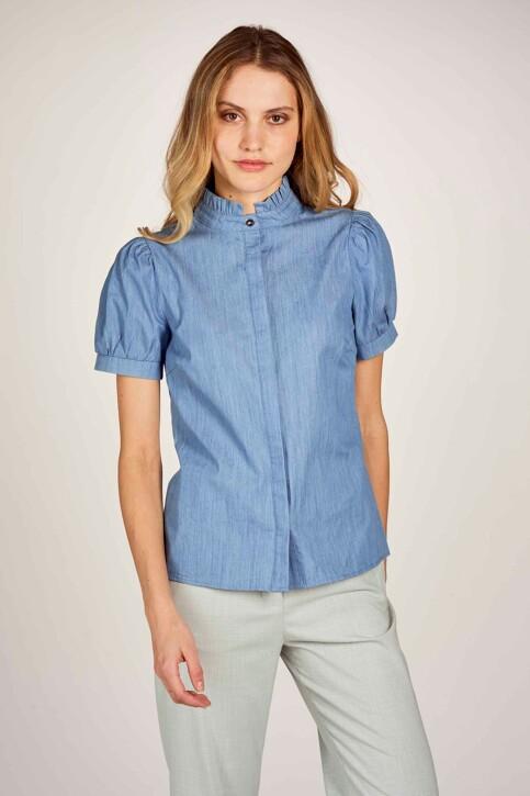 Le Fabuleux Marcel de Bruxelles Hemden (korte mouwen) denim MDB211WT 003_DENIM BLUE img2