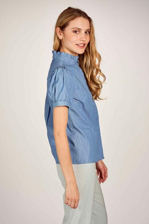 Le Fabuleux Marcel de Bruxelles Hemden (korte mouwen) denim MDB211WT 003_DENIM BLUE img3