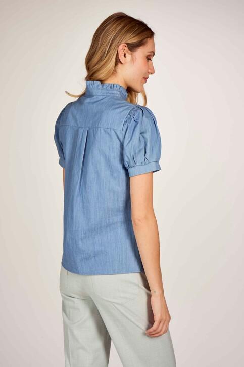 Le Fabuleux Marcel de Bruxelles Hemden (korte mouwen) denim MDB211WT 003_DENIM BLUE img4