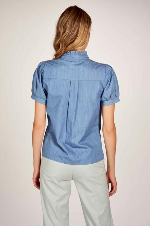 Le Fabuleux Marcel de Bruxelles Hemden (korte mouwen) denim MDB211WT 003_DENIM BLUE img5