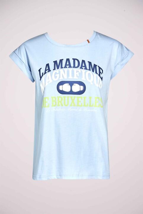 Le Fabuleux Marcel de Bruxelles Tops (korte mouwen) blauw MDB211WT 028_CHAMBRAY BLUE img3