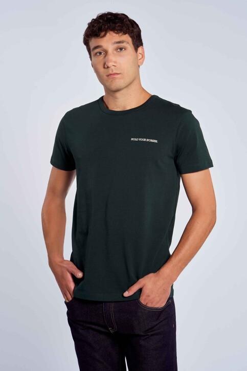 Le Fabuleux Marcel de Bruxelles T-shirts (korte mouwen) groen MDB212MT 003_DARK GREEN img1