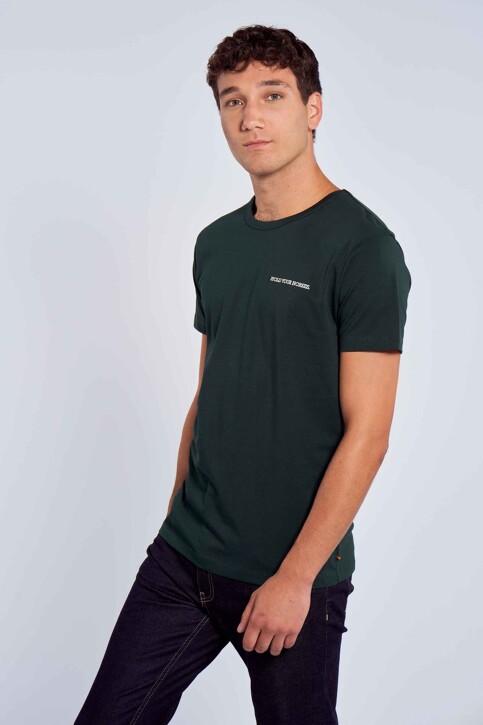 Le Fabuleux Marcel de Bruxelles T-shirts (korte mouwen) groen MDB212MT 003_DARK GREEN img2