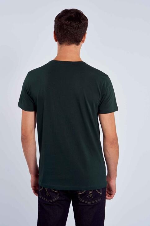 Le Fabuleux Marcel de Bruxelles T-shirts (korte mouwen) groen MDB212MT 003_DARK GREEN img4