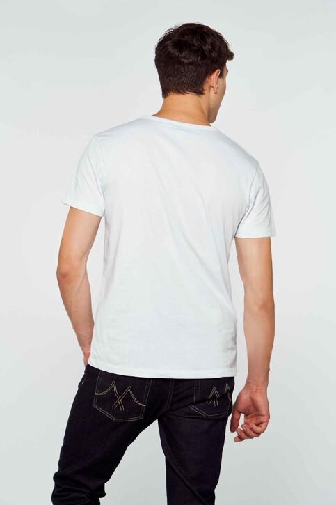Le Fabuleux Marcel de Bruxelles T-shirts (korte mouwen) wit MDB212MT 003_WHITE img2