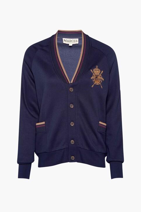 Le Fabuleux Marcel de Bruxelles Sweaters (gilet) blauw MDB212WT 004_NAVY img5