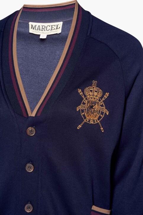 Le Fabuleux Marcel de Bruxelles Sweaters (gilet) blauw MDB212WT 004_NAVY img6