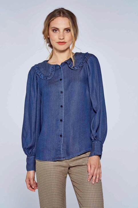 Le Fabuleux Marcel de Bruxelles Hemden (lange mouwen) denim MDB212WT 029_DENIM img2