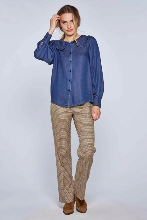 Le Fabuleux Marcel de Bruxelles Hemden (lange mouwen) denim MDB212WT 029_DENIM img3