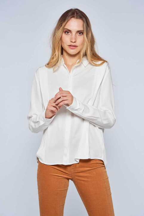 Le Fabuleux Marcel de Bruxelles Hemden (lange mouwen) wit MDB212WT 033_GARDENIA img1