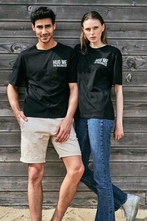 Le Fabuleux Marcel de Bruxelles T-shirts (korte mouwen) zwart MDB212WT 037_BLACK img1