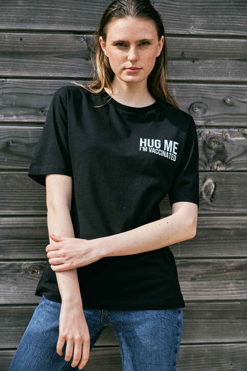 Le Fabuleux Marcel de Bruxelles T-shirts (korte mouwen) zwart MDB212WT 037_BLACK img3
