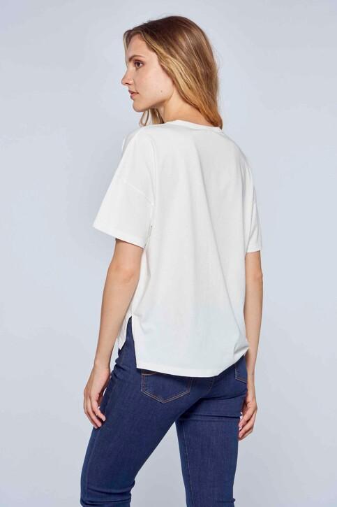 Le Fabuleux Marcel de Bruxelles T-shirts (korte mouwen) wit MDB212WT 039_GARDENIA img3