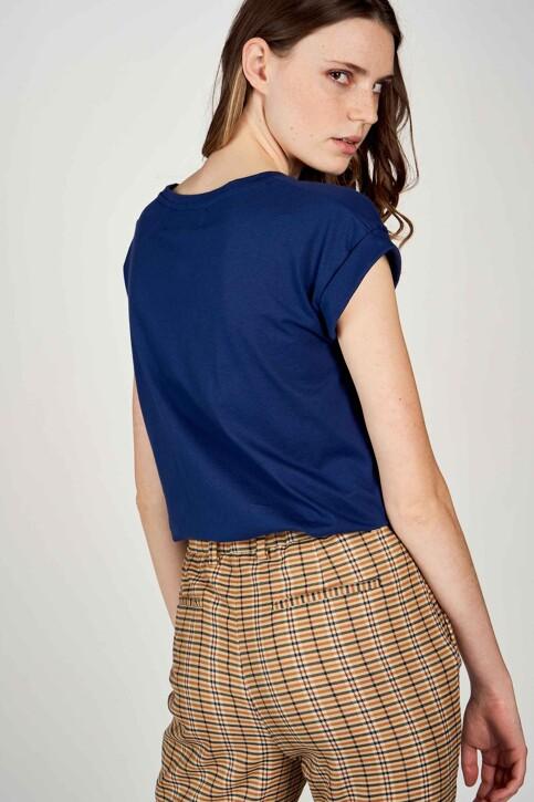 Le Fabuleux Marcel de Bruxelles T-shirts (korte mouwen) blauw MDB213WT 002_BLUE DEPTHS img4