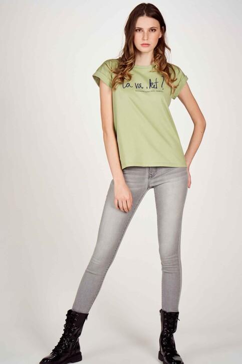 Le Fabuleux Marcel de Bruxelles T-shirts (korte mouwen) groen MDB213WT 003_RESEDA GREEN img1