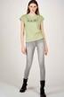 Le Fabuleux Marcel de Bruxelles T-shirts (korte mouwen) groen MDB213WT 003_RESEDA GREEN img2