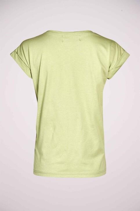 Le Fabuleux Marcel de Bruxelles T-shirts (korte mouwen) groen MDB213WT 003_RESEDA GREEN img5