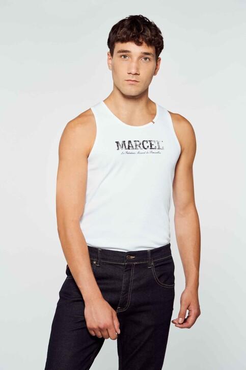 Le Fabuleux Marcel de Bruxelles Tanktops wit MDB214MT 012_WHITE img1