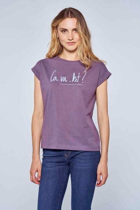 Le Fabuleux Marcel de Bruxelles T-shirts (korte mouwen) paars MDB214WT 014_VINTAGE LILAC img1