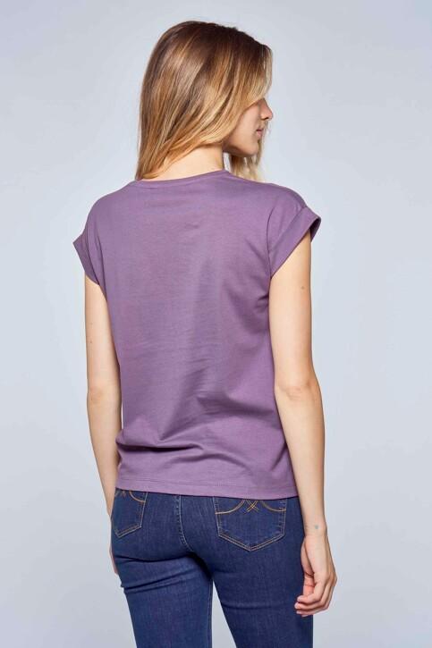 Le Fabuleux Marcel de Bruxelles T-shirts (korte mouwen) paars MDB214WT 014_VINTAGE LILAC img2