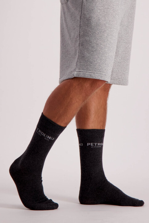 Petrol Industries® Chaussettes gris MFW18SOC911_9080 STEAL MELE img2