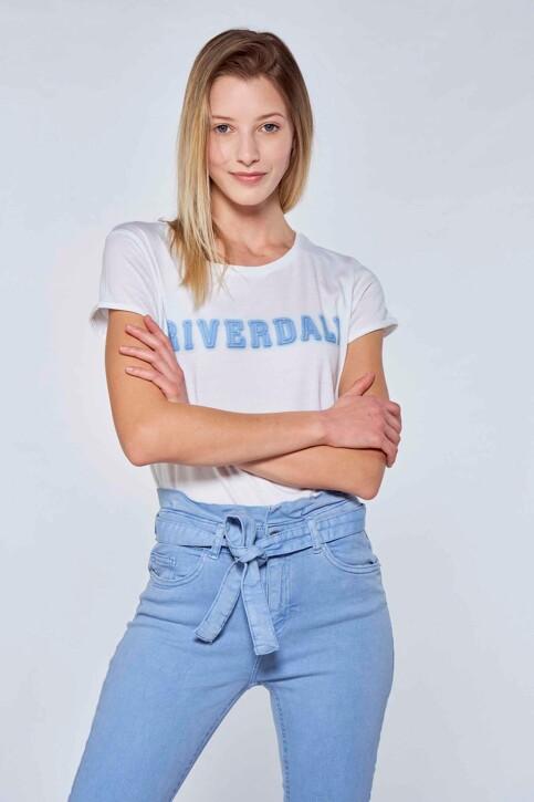 RIVERDALE T-shirts (korte mouwen) wit ML9711B_BLANC BLEU img1