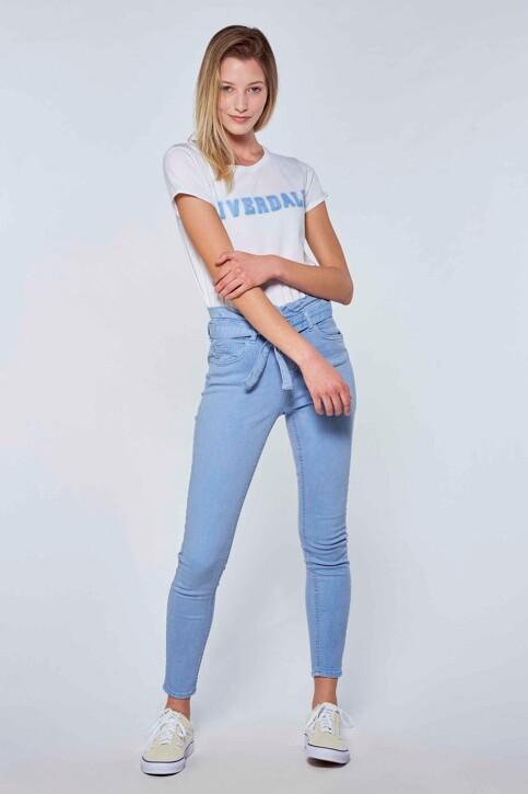RIVERDALE T-shirts (korte mouwen) wit ML9711B_BLANC BLEU img2