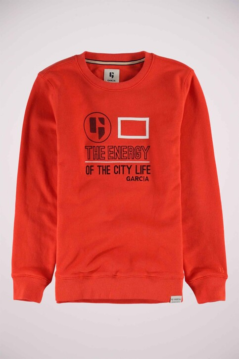 GARCIA Sweaters col O rouge N03660_2599 BRIGHT RED img7