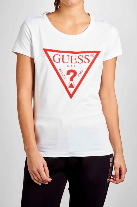 Guess® Tops uni manche courte blanc O94I02J1311_A009 img1