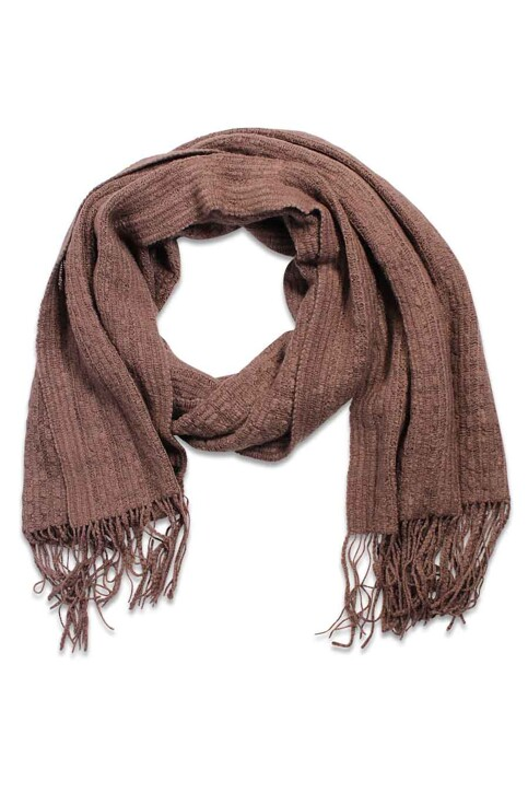 ONLY® Wintersjaals bruin ONLSEJA KNIT SCARF_DEEP TAUPE img1