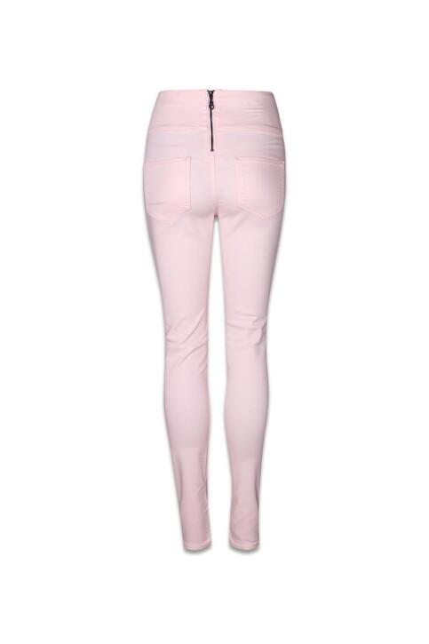 PIECES® Pantalons colorés rose PCJUST JUTE HW LEGGI_PEARL img2