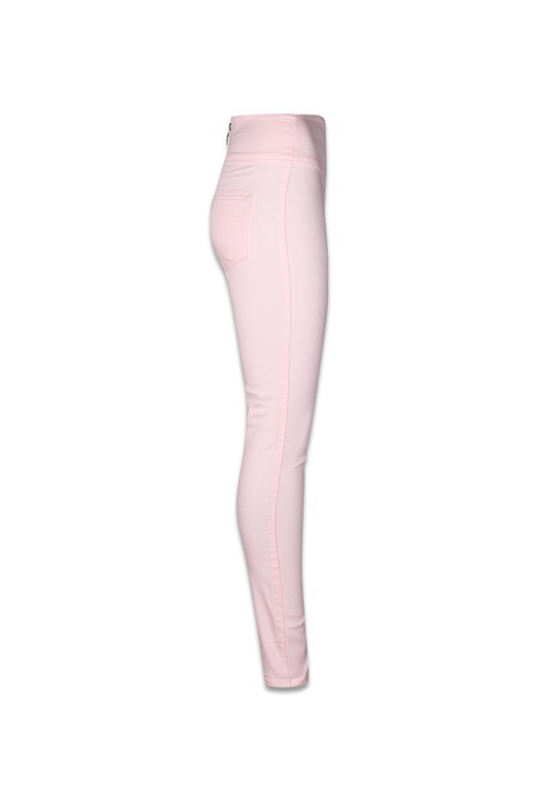 PIECES® Pantalons colorés rose PCJUST JUTE HW LEGGI_PEARL img3