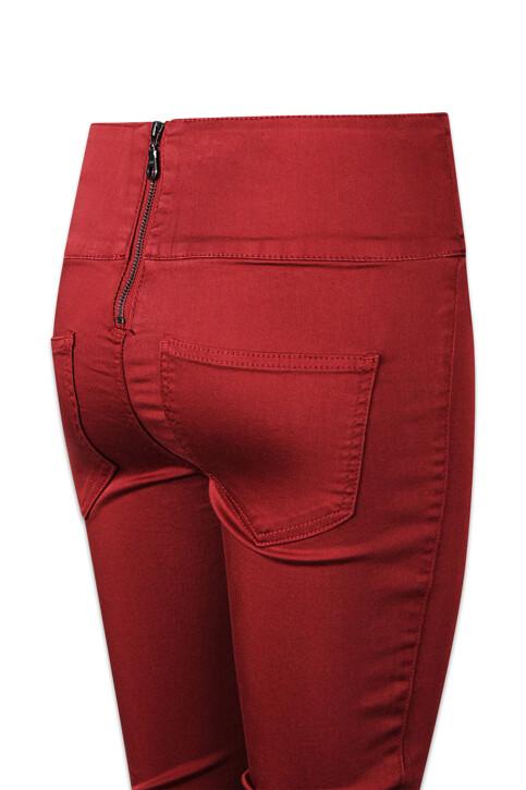 PIECES® Colorbroeken rood PCJUST JUTE HW LEGGI_ROSEWOOD img4