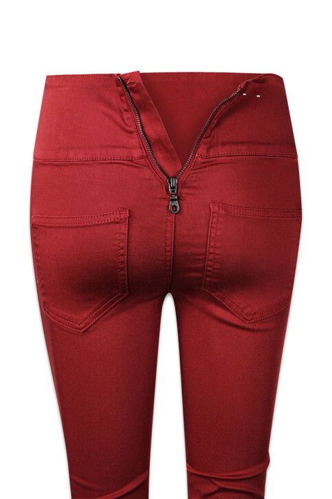 PIECES® Colorbroeken rood PCJUST JUTE HW LEGGI_ROSEWOOD img6
