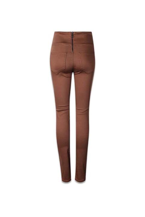 PIECES® Pantalons PCJUST JUTE HW LEGG_MUSTANG img2