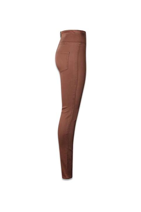 PIECES® Pantalons PCJUST JUTE HW LEGG_MUSTANG img3
