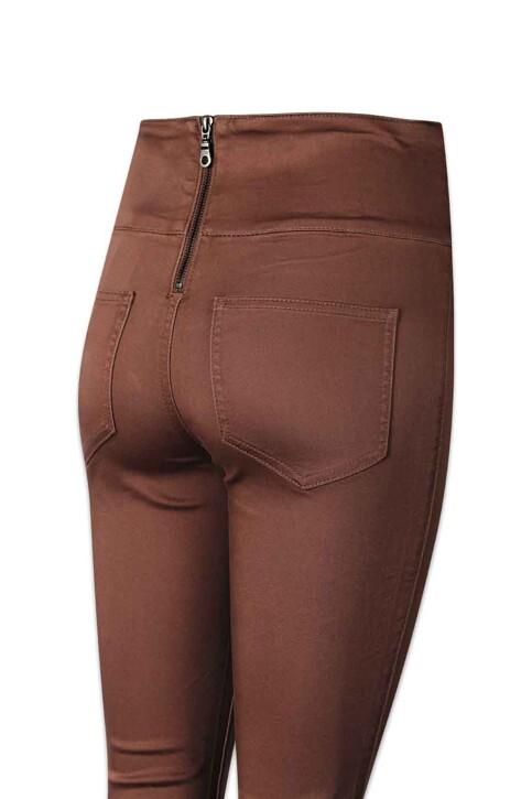 PIECES® Pantalons PCJUST JUTE HW LEGG_MUSTANG img4