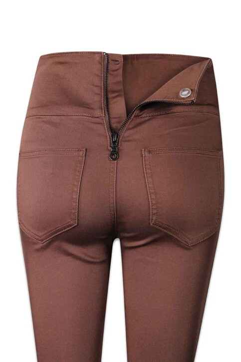 PIECES® Pantalons PCJUST JUTE HW LEGG_MUSTANG img6