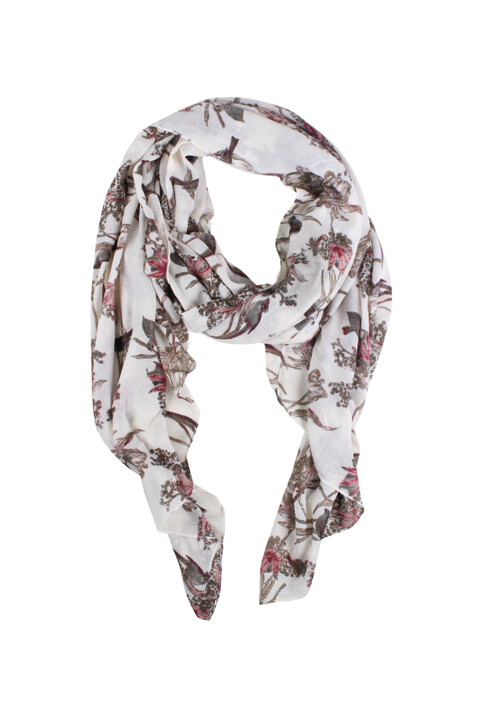PIECES® Zomersjaals beige PCNICOLA LONG SCARF_WHITECAP GRAY img1