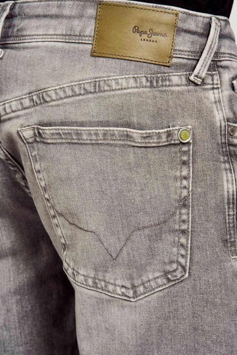 Pepe Jeans Jeans slim gris PM200823WF7_WF7 MID GREY img5