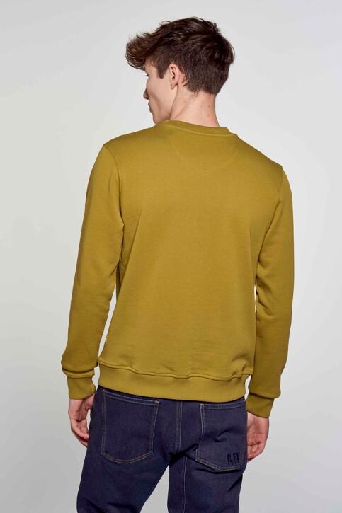 R.EV 1703 by Remco Evenepoel Sweaters met ronde hals groen REV211MT 005_GREEN MOSS img3